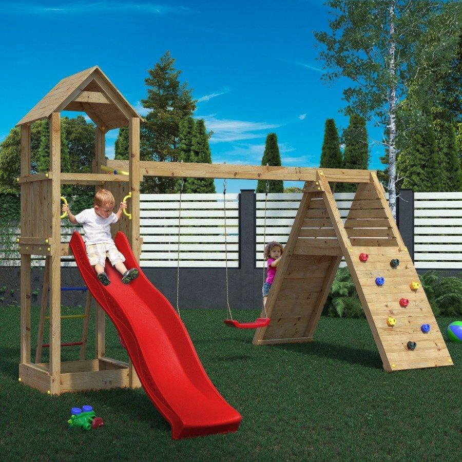 Parco giochi in legno di pino fungoo - 2918344 1