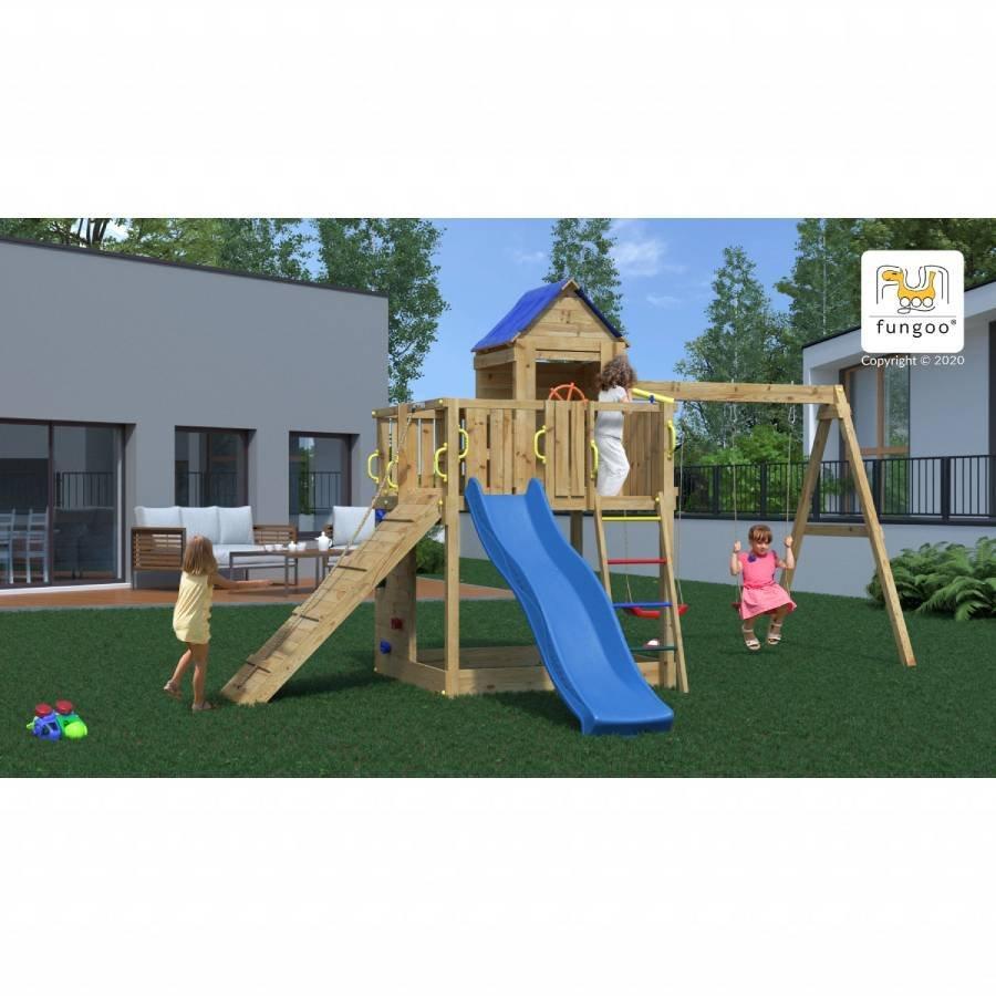 Parco giochi in legno di pino casa 1