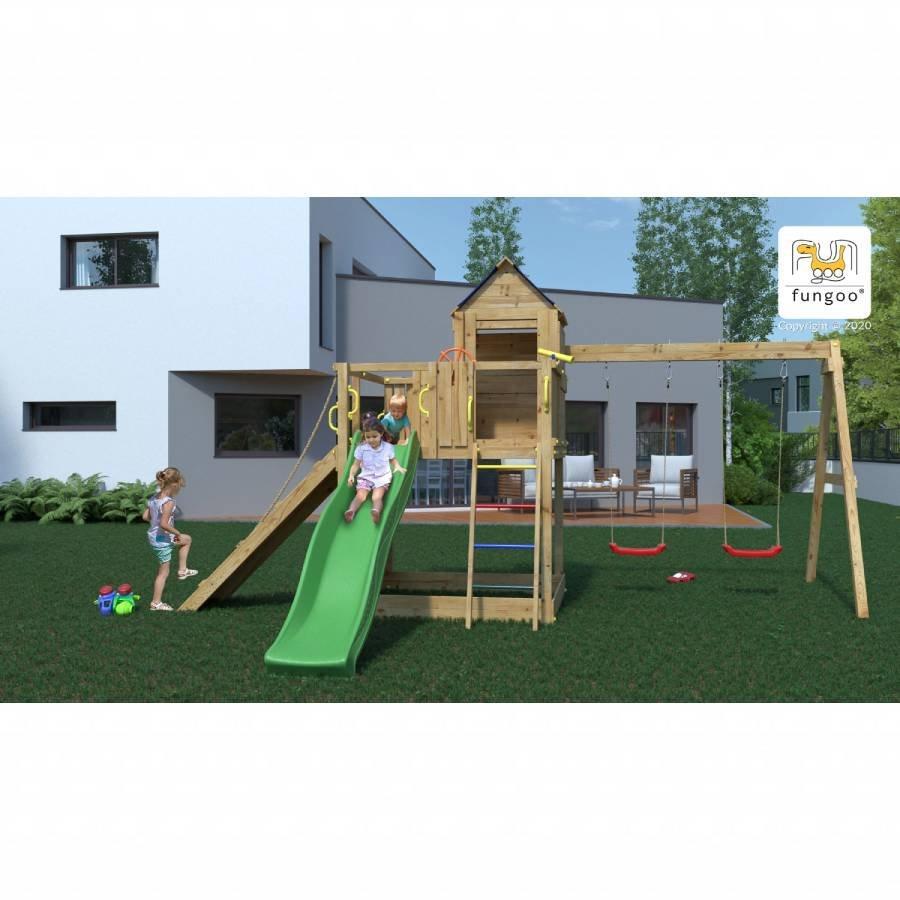 Parco giochi in legno casa sull'albero 501 1