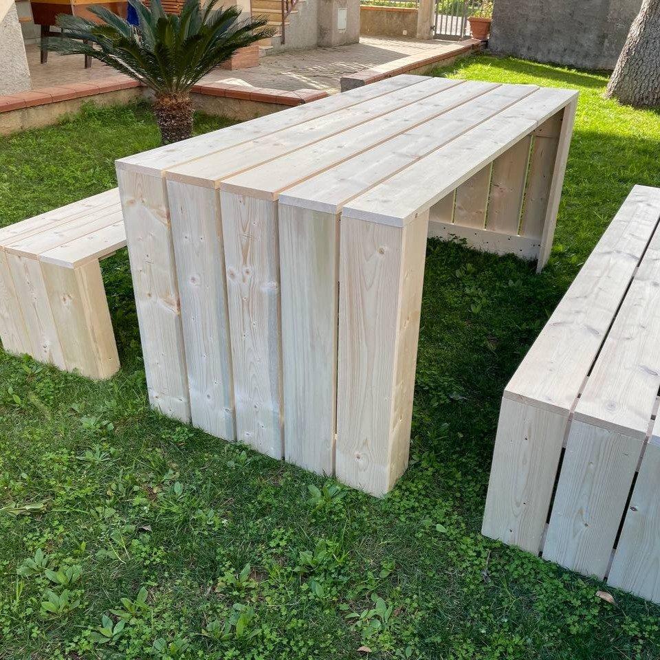 Tavolo in legno da giardino madrid legno - 2918370 1