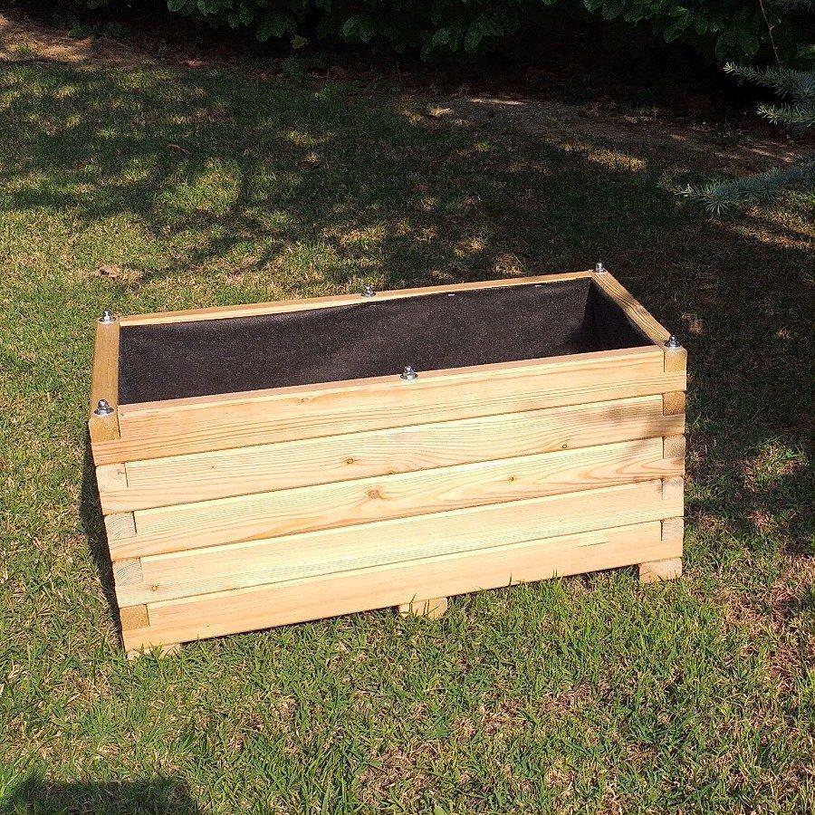 Fioriera da giardino in legno di larice - 2918401 1
