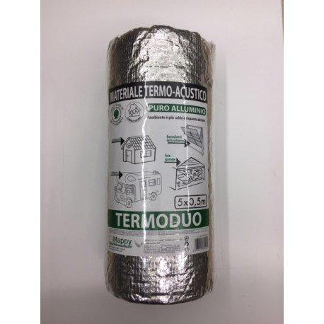 Isolante riflettente termoacustico in puro alluminio termoduo 1
