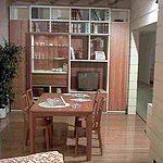 Composizione soggiorno laccato avorio