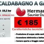 Scaldabagno a gas hermann saunier duval mod.opalia c11...