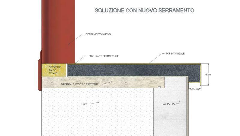 Davanzale termico isolante copri soglia finestra isolamento 13