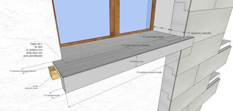 Davanzale termico isolante copri soglia finestra isolamento 2