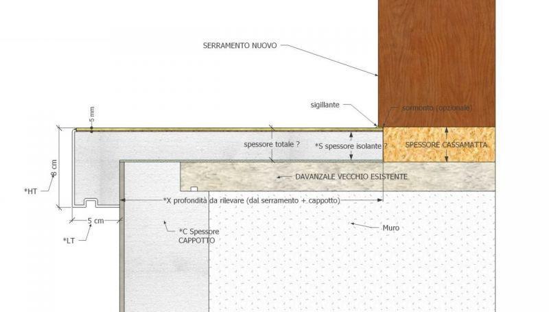 Davanzale termico isolante copri soglia finestra isolamento 6