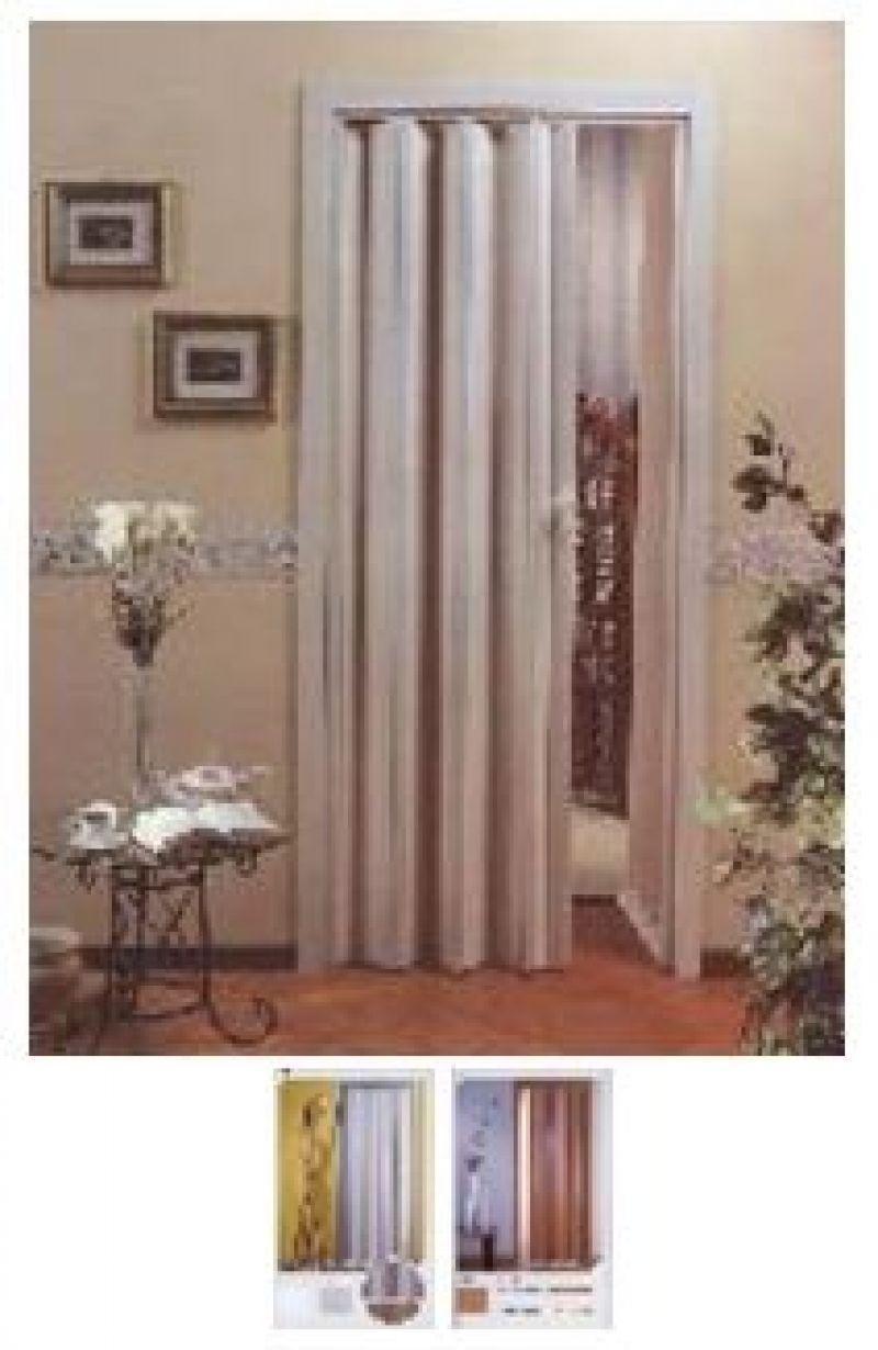 Porta scorrevole a soffietto DELTA con vetri decorati 3