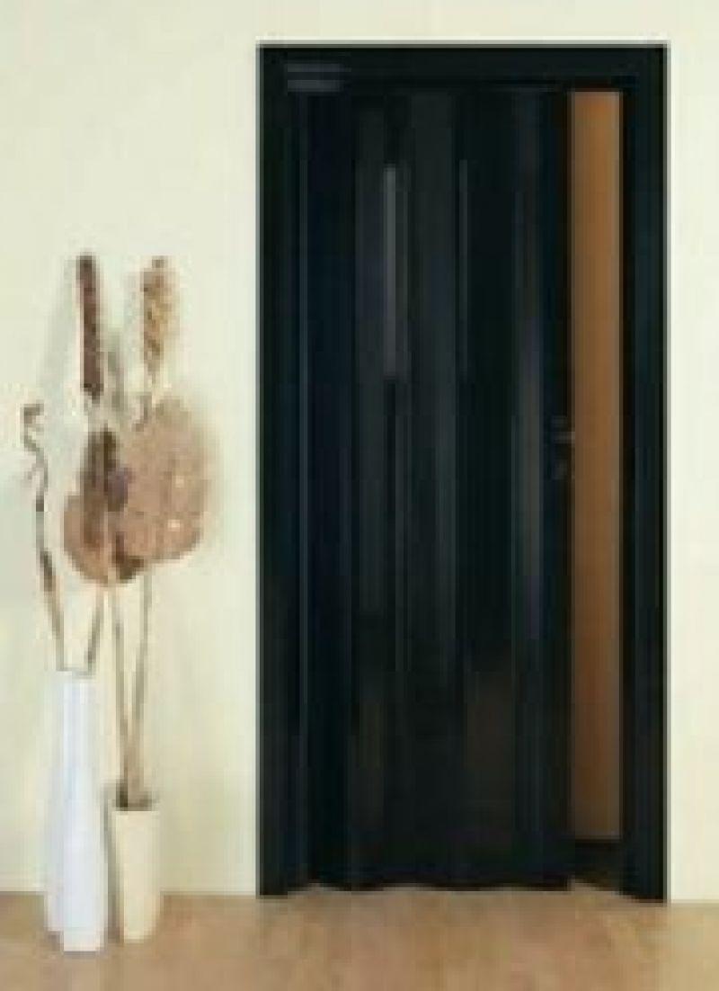 Porta scorrevole a soffietto DELTA con vetri decorati 5