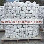 Ciottoli di bianco carrara mm. 100-150
