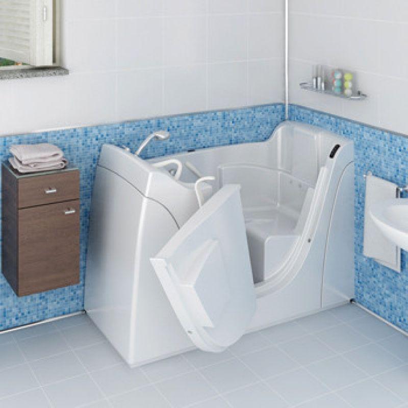 Vasca da bagno CAPRI con sportello e per disabili 1