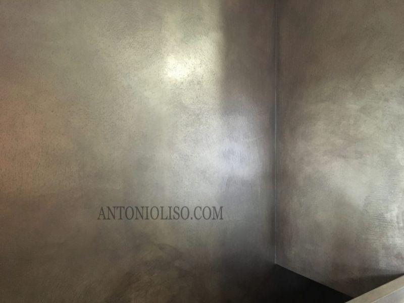 Scale in resina spatolata, gradini in resina Milano 6