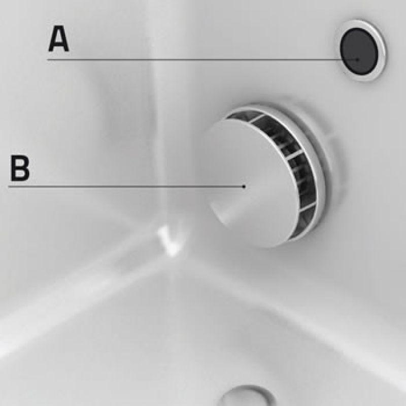 Impianto idromassaggio aria-aria per vasche con porta 4
