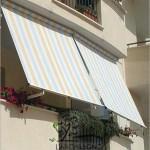 Tenda da balcone con braccetti, in tessuto parà tempotest cm. 240x250h