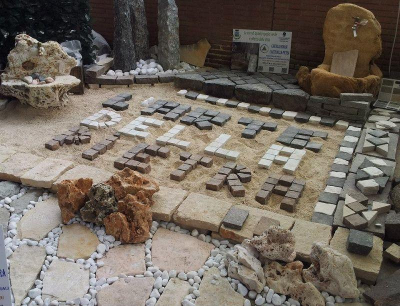 Ciottoli di pietra bianca Marino di Roma 5