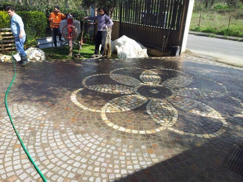 Pavimento a mosaico Marino di Roma 5