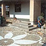 Pavimento a mosaico Marino di Roma