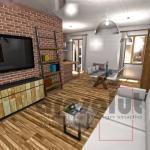 Render realistico di interni