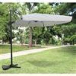 Ombrellone decentrato 200x300cm struttura in acciaio e alluminio da giardino per arredo esterno
