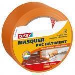 Nastro in PVC per mascheratura di intonaci 33 m x 50 mm arancione
