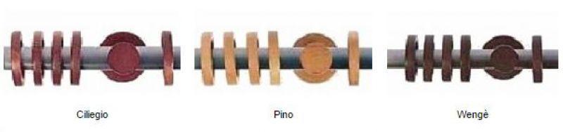 Bastoni scorritenda in acciaio e legno 1