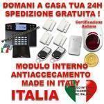 Allarme Casa Senza Fili Con Centrale Vocale In Italiano Sxafw1 Gsm Sms Con 5 Sensori 50100 Metri Sirena Esterna