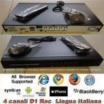 Cctv  Tvcc  8 Ch Full D1   Output Vga E Bnc  Usb 20  Max 1 Hdd  1u  400fps  Compatibile Con Tutti I Browser E I Dispositivi Mobile  Ptz  Mouse  Teleco