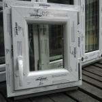 Finestre in pvc bianco aluplast 4000 misura l:500 x h:500mm anta&ribalta bianco