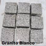 Cubetti granito bianco