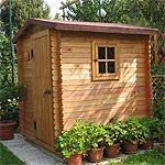 Casetta in legno con sistema easy block