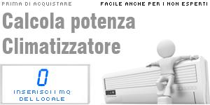 Calcolo potenza climatizzatore