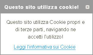 Questo sito utlizza cookie!