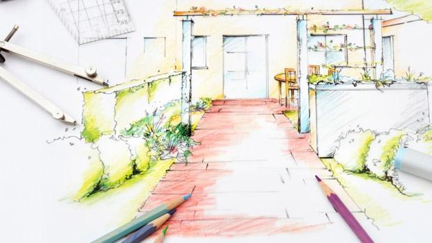 Progetto arredamento e d 39 interni realizzato a mano libera for Progettazione arredamento interni